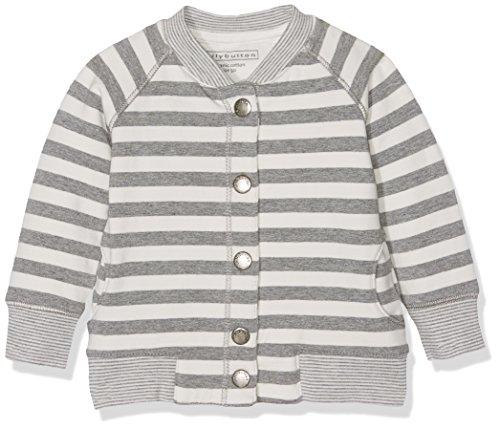 Bellybutton Kids Baby-Jungen Sweatjacke 1/1 Arm Langarmshirt, Mehrfarbig (Y/D Stripe 0001), 62