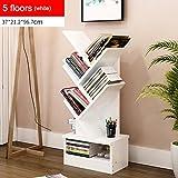 CXM-Decorative frame ALUK- Einfaches modernes Bücherregal-Bücherregal, Das kreative Baum-Form mit Fach landet (Farbe : #2, größe : 5 Floors)