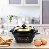Homgeek Eierkocher Edelstahl mit Warmhaltefunktion, für 1-7 Eier für Homgeek Eierkocher Edelstahl mit Warmhaltefunktion, für 1-7 Eier