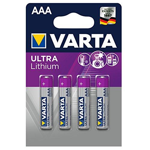 Varta Lithium Batterie AAA Micro Batterien LR03-4er Pack (Design kann abweichen)