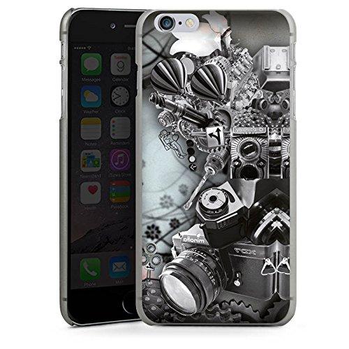 Apple iPhone X Silikon Hülle Case Schutzhülle Fotografie Kamera Roboter Hard Case anthrazit-klar
