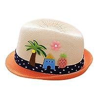 Xshuai Baby Hat for 2-6 Years Old Kids, Summer Baby Hat Cap Children Breathable Hat Show Kids Hat Boy Girls Hats Caps (Beige)