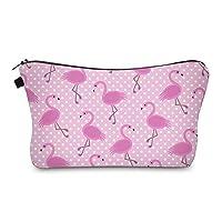 Bonamana Unicorn Large Capacity Pencil Case Toiletry Bag Cosmetic Makeup Pouch Case Organizer for Travel (Flamingo)