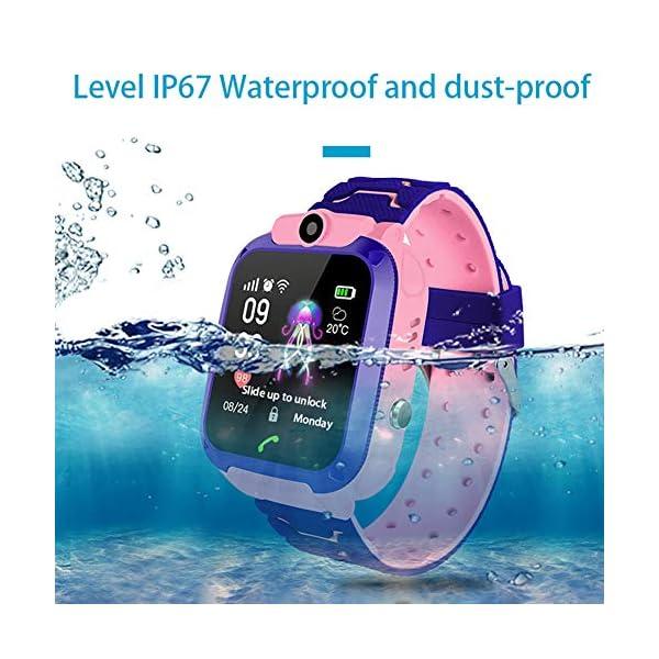 Localizador GPS Niños, Reloj GPS Niños Localizador Con SOS Anti-Lost Alarm Para Tarjeta Pantalla Táctil Smartwatch Para… 4