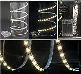 Hillfield® 1m Lichterband mit 60 LEDs Lichterkette zuschneidbar selbstklebend Lichterketten Weihnachten Lichtband LED-Band Dekolichter LEDkette Lichterbänder
