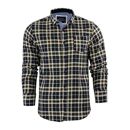 Brave Soul - Chemise casual - Homme Charcoal / Mustard