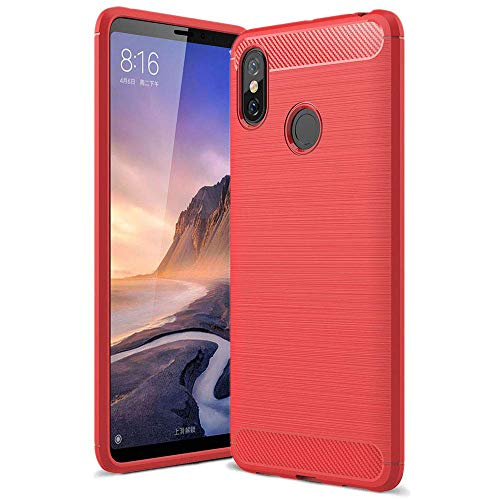 LAPINETTE Gel para Xiaomi mi MAX 3 - Azul - Rojo