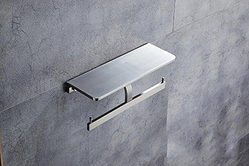 WXFC Raum Aluminium Mauer Montiert Doppelt Toilette Papier Halter Handtuch Gestell Korb Box zum Gewebe oder Rollen Papier, Lager Regal, Bad Zubehör, Sanitär Waren, 2