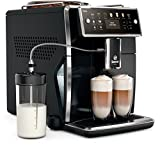 Saeco sm7580/00Xelsis–Cafetera automática, pantalla LED con teclas de marcación directa, hygie de Steam, 1.7L, color negro