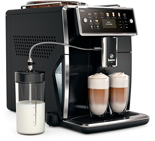 Saeco sm7580/00Xelsis-Cafetera automática, pantalla LED con teclas de marcación directa, hygie de Steam, 1.7L, color negro