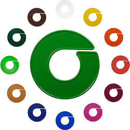 Kunststofftechnik Vlotho - Der Original Größenfinder: Modell unbedruckte Größenscheiben für Größenkennzeichnung auf Kleiderstangen, Farbe frei wählbar, 10 Stück