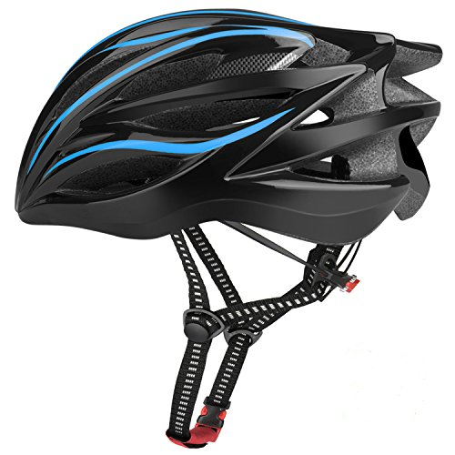 Six Foxes Fahrradhelm 2018 Specialized Damen Herren Fahrrad Helm, 52-58 cm (Blau)