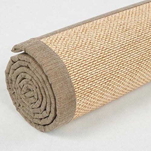 KAHDGYADQF Bambusmatte/Wohnzimmer Schlafzimmer Bambus Teppich Custom Tatami Float Fenster Bambus Matte Yoga Non-Slip Matte-taobao-C Durchmesser150cm(59inch)