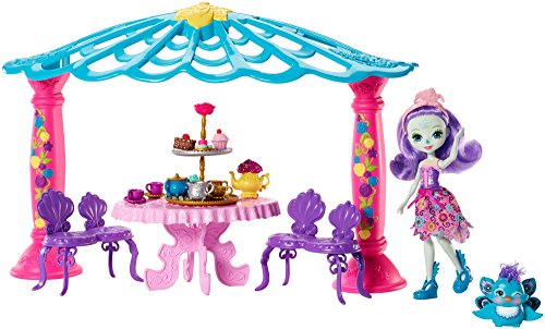 Enchantimals Coffret Mini muñeca – El salón de The de Mme pavo real (Mattel FRH49)