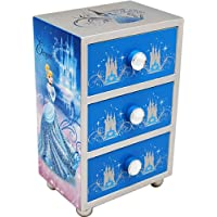 Disney Princess Joy Toy Cinderella Jewelery Boxes with 3 Wooden Drawers (Multi-Colour)