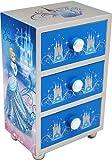Joy Toy 90006 - Disney Cinderella Schmuckkästchen aus Holz mit 3 Schubladen, Geschenkpackung, 10 x 7 x 16 cm