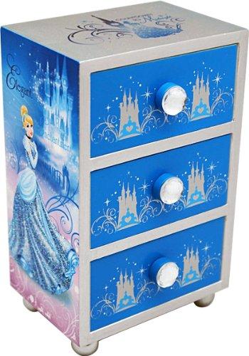 Disney-90006-Joyero-con-3-cajones-diseo-Cenicienta-10-x-7-x-16-cm