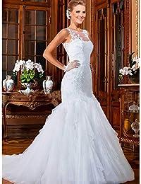 LUCKY-U Vestito da Sposa Abito da Sposa Lunghezza del Piano Abito da Sposa  Vestito 48246407d31