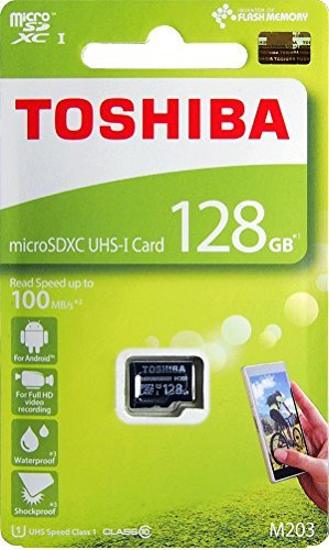 Toshiba M203 128GB Class 10 Micro SD Memory Card (THN-M203K1280A4)
