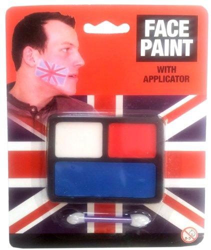 Union Jack - Gesichtsschminke Mit Applikator - Perfekt fuer Diamond Jubilee und London 2012 Olympische ()