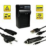 4en1 Cargador NB-12L / NB-13L para Canon PowerShot N100 | PowerShot G1X Mark II | Legria Mini X | Vixia Mini X | PowerShot G7X [ 12 / 24V - 230V - USB - Tavolo ]