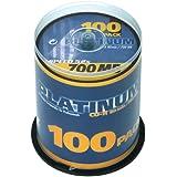 PLATINUM - CD R 80 MIN 52X 100ER SPINDEL