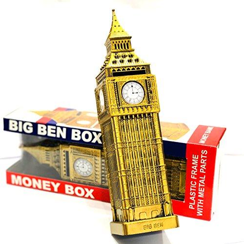 Londres Souvenir Big Box Ben forte somme d'argent Fabriqué en métal et plastique