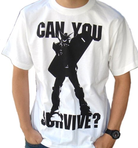 ? Gundam can you survive T-shirt White Size: XL (japan import)