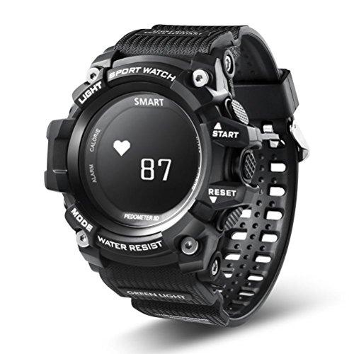 squarex Fitness Tracker Herzfrequenz Monitor Wasserdicht Activity Tracker Bluetooth Wireless Smart Watch, damen, schwarz