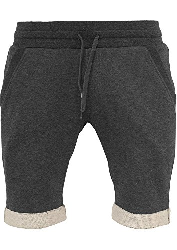 Urban Classics Herren Shorts Light Turnup Sweatshorts Grau (Charcoal 91)