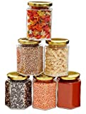 TIED RIBBONS Set of 6 Kitchen Glass Jars and Containers Sets with Air