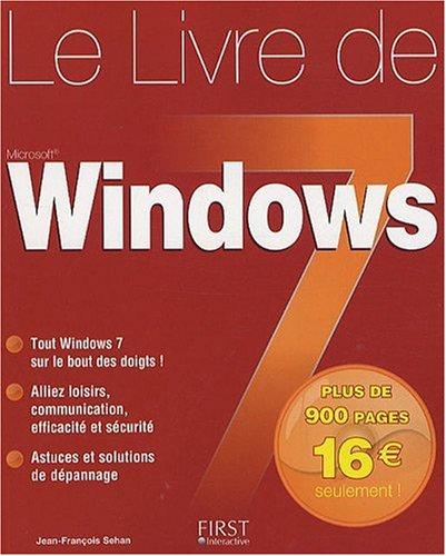 LIVRE DE WINDOWS 7 par JEAN-FRANCOIS SEHAN