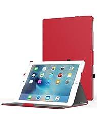MoKo Apple iPad Pro Funda - Slim-Fit Multi-angle Folio Funda para iPad Pro 12.9 inches iOS 9 Tablet, Rojo