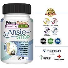 ANSIESTOP - Triptófano Puro + Pasiflora + Lúpulo + Verbena + Vitaminas B1, B3 y