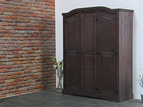 dynamic24 3trg Kiefer Kleiderschrank New Mexiko Mexico Schlafzimmer-Schrank kolonial 1
