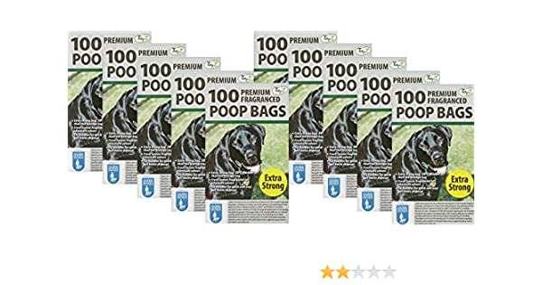 *EXTRA STRONG PREMIUM FRAGRANCED* Scented Pet Bag Dog Cat Poo 1000 DOGGY BAGS