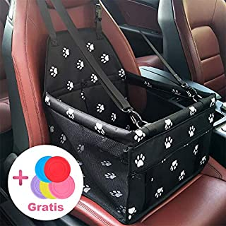 Aplus Pet Car Seat Cover Carrier Portable Foldable Carrier with Seat Belt for Dog Cat Car Booster Seat Carrier