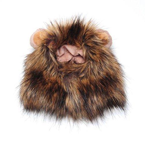 Haustierkostüm, Löwenmähne mit kleinen Ohren, für Hunde und Katzen, 1Stück ()
