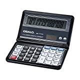 Decdeal Folding Desktop Electronic Calculator 12 Digits 112 Steps Check & Correct Battery & Solar Dual Powered Larger Display for Home School Student Business Calculating