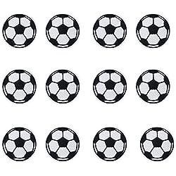 12PCS palla pallone da calcio toppa termoadesiva per bambini jeans abbigliamento bambini Sew on Jacket zaino applique DIY Craft