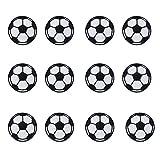 MIWIND 12Stück Jeans-Flicken Fußball, Fußball, Aufbügel Flicken für Kinder Rucksack Jacke Kleidung für Kinder mit Applikation DIY Handwerk