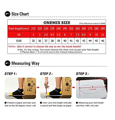 ONEMIX Uomo Donna Stivali Scarpe Invernali Calde da Passeggio Antiscivolo Ginnastica Scarpe da Scarpe da Passeggio Invernali per l'alpinismo all'aperto Grigio/Bianco