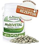 AniForte MultiVETAL Multivitamin für Hunde, Katzen 100 Tabletten - Natürliche Multi-Vitamine und Nährstoffe für eine optimale Versorgung, Unterstützung der natürlichen Abwehrkräfte