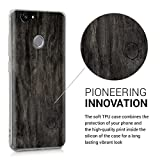 kwmobile Hülle für Huawei Nova - TPU Silikon Backcover Case Handy Schutzhülle - Cover klar Vintage Holz Design Dunkelbraun -