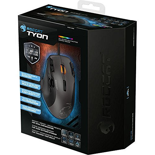 Roccat Tyon All Action Multi-Button Gaming Laser-Maus (8200dpi, 14-Tasten, USB) grau/schwarz - 6