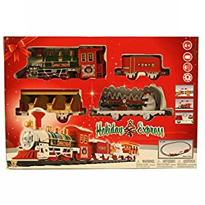 goldlok 09622 holiday express battery operated musical train set toys games. Black Bedroom Furniture Sets. Home Design Ideas