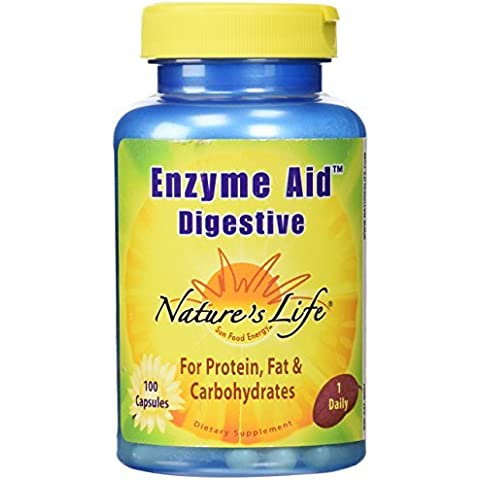 Nature's Life Enzyme Aid Digestive , 100 Capsules by Nature's