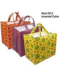 MasterStor Multi Pocket Reusable Eco Vegetable Bag/Grocery Bag/Shopping Bag With 6 Pocket Pack Of 2