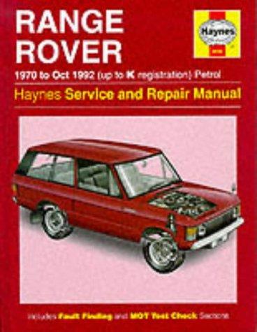 Range Rover Service and Repair Manual (Haynes Service and Repair Manuals) por P.M. Methuen