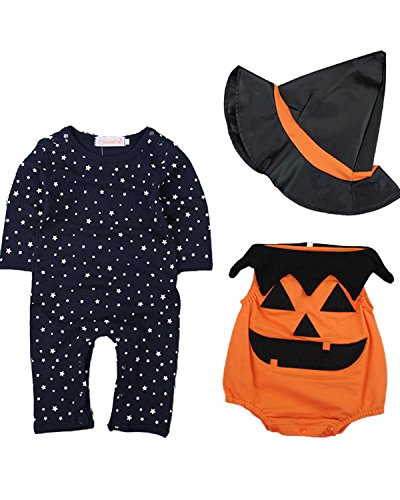 Kidsform Baby Junge Langarm Cosplay Halloween Karneval Bodysuit Jumpsuit Outfits Set Style 1 12-18Monate
